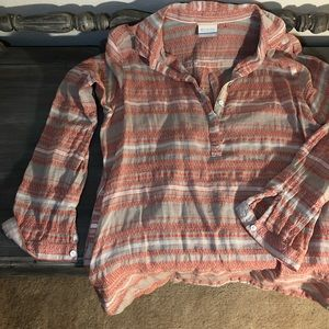 Columbia Aztec patterned tunic blouse medium